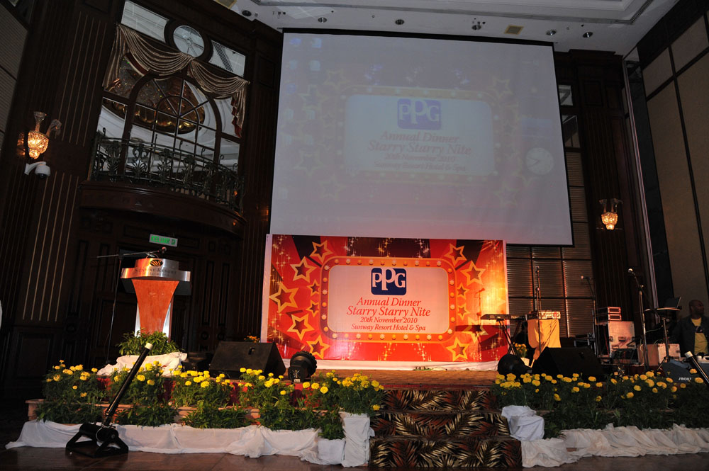 Ppg annual dinner egg events event management company for Annual dinner decoration